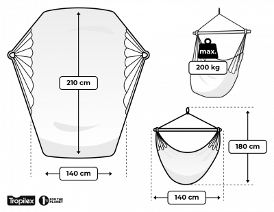 Hamaca-silla Doble 'DeLuxe' White
