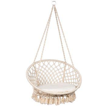 Hamaca-silla Individual 'Macramé' White