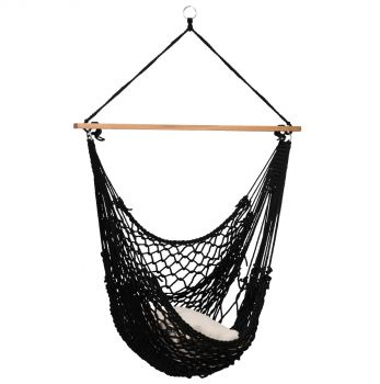 Hamaca-silla Individual 'Rope' Black