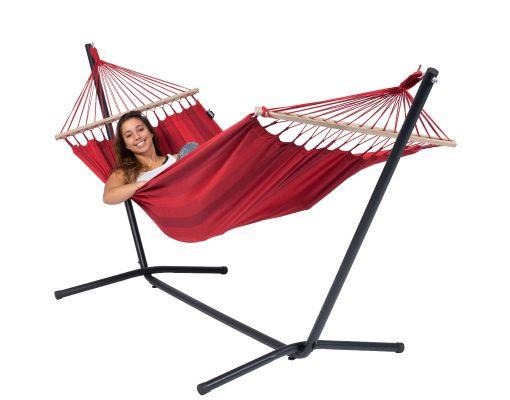 Hamaca Individual con Soporte 'Easy & Relax' Red